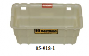 "Hastings 7 1/2"" x 6"" x 14"" Fiberglass Inside-Outside Tool Tray"