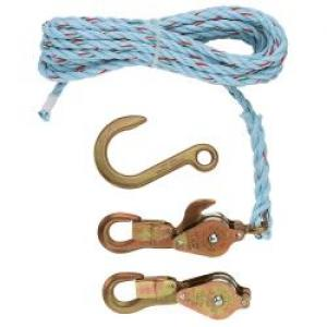 Klein Block & tackle w/std snap hooks & swivel hooks