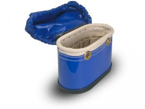 "Estex 15"" x 7"" x 9""  Aerial Tool Bucket w/Vinyl Cover, 15 Pockets, & U-Bracket"