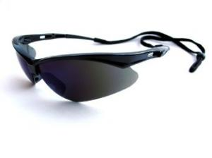 Nemesis Black Frame, Smoke Mirror Lens Safety Glasses (25688)