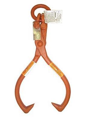 "CM Rigging 25-1/4"" OAL Orange Lifting Tongs - Material Diameter & Max Opening 1"" x 25"" (17lbs.)"