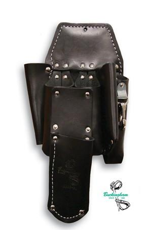 Buckingham Double Back Holster w/ 5 pockets, 2 way knife snap and a 4089 knife sheath attachment