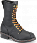 Carolina Black Leather Domestic 10'' Linesman Boot EE Width