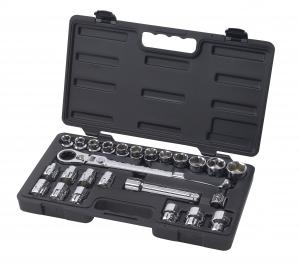 "Gearwrench 25 Piece 1/2"" Drive Pass Thru Ratchet Set w/Locking Flex-Head & Case"