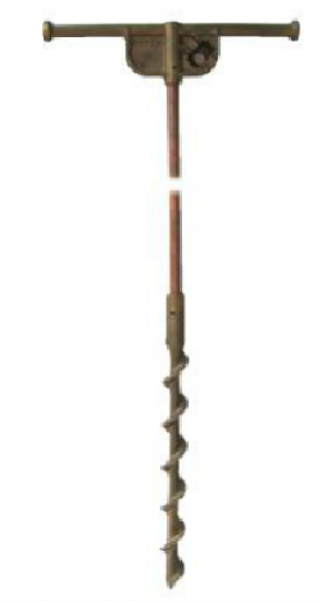 6' Copper Clad Temporary Screw Ground Rod w/T-Handle
